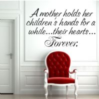 A Mother Holds Her Childrens Hands ~ Wall sticker / decals
